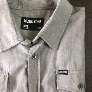 Zoo York Short sleeve button down gray $20 XXL